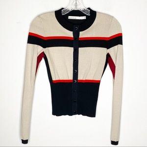 Karen Millen Colorblock Long Sleeve Cardigan XS